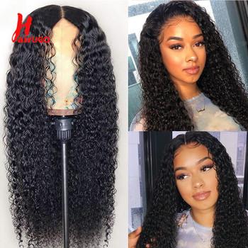HairUGo 4 #215 4 zamknięcie koronki peruki z ludzkich włosów peruki z włosami kręconymi typu Kinky wstępnie oskubane brazylijski Remy 13 *(5*1) koronkowe peruki peruki z ludzkich włosów dla kobiet tanie i dobre opinie Perwersyjne kręcone Włosy remy CN (pochodzenie) Brazylijskie włosy średni rozmiar Średni brąz Tylko ciemniejszy kolor