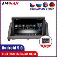 Android 9.0 Car dvd GPS Navi head unit For Mercedes Benz C Class W204 C200 2007 2014 Radio stereo Audio Video tape recorder 4+64