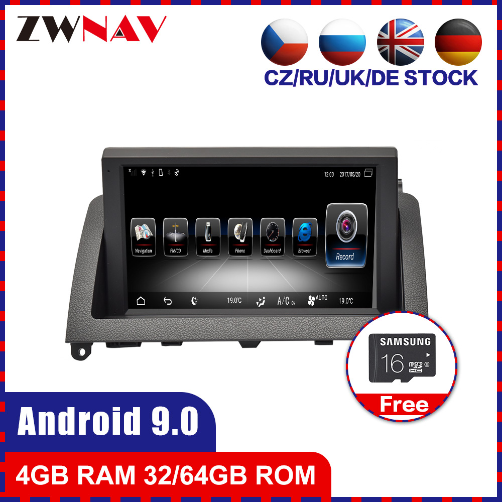 Android 9.0 Car dvd GPS Navi head unit For Mercedes Benz C Class W204 <font><b>C200</b></font> 2007-2014 Radio stereo Audio Video tape recorder 4+64 image