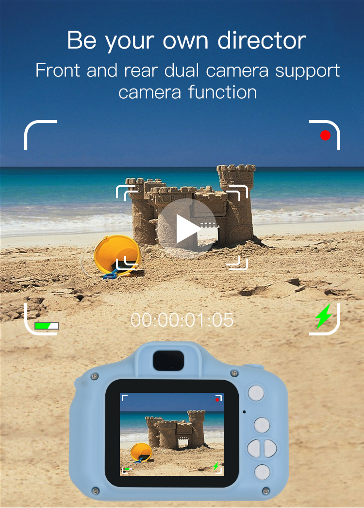 H38587311fa104fb8a8a7935b19cab1afE TISHRIC Mini Digital Children's Camera 1080P Kids Educational Toys camera For Shooting Video For Children Baby Birthday/Gifts