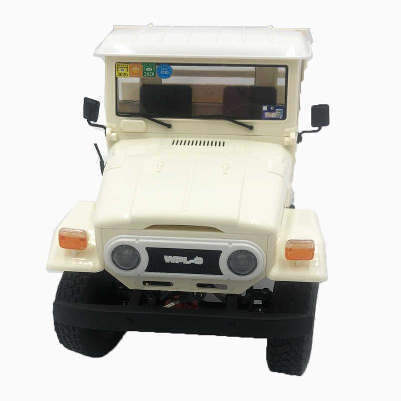 Wpl 1 C44KM 金属版組立キット 1/16 4WD rc カー子供ボーイズモデルギフトオフロード車白 w/モーターサーボ