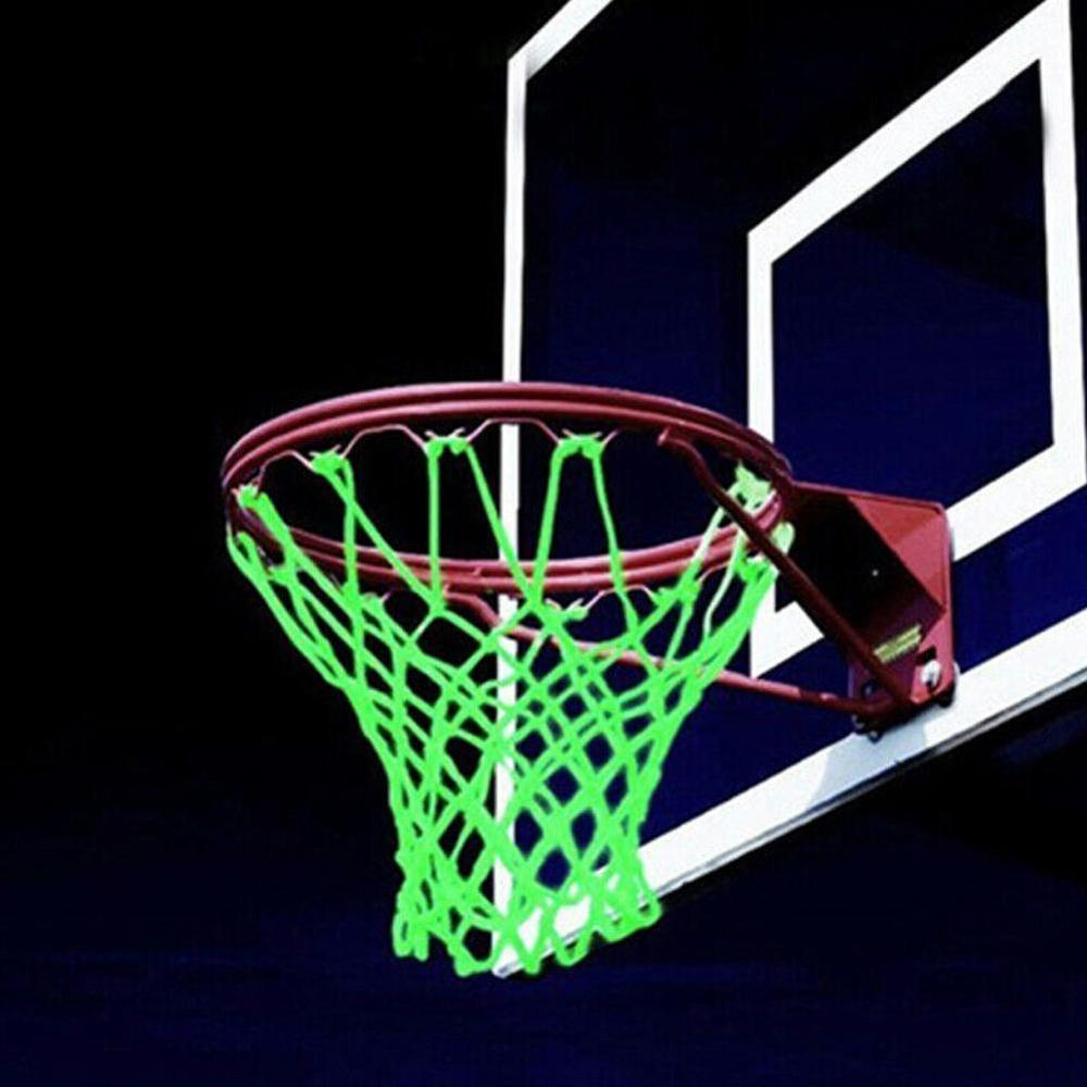 New Glowing Light Shooting Training Green Luminous Basketball Net Board Rim Ball Mesh Nylon Standard Basketball Hoop Net