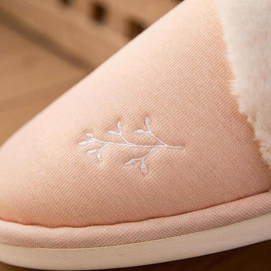 POSEE Soft sole Winter Warm Slippers Voor Vrouwen Thuis Indoor Katoen Pluche Slippers vrouwelijke huis Comfortabele Schoenen Voor Paar 0487