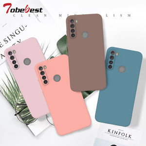 Candy Solid Color Soft Silicone Case For Xiaomi Redmi Note 8T 8 7 7A 6 6A 5 Pro Soft TPU Matte Phone Cover For Redmi Note 8 Pro