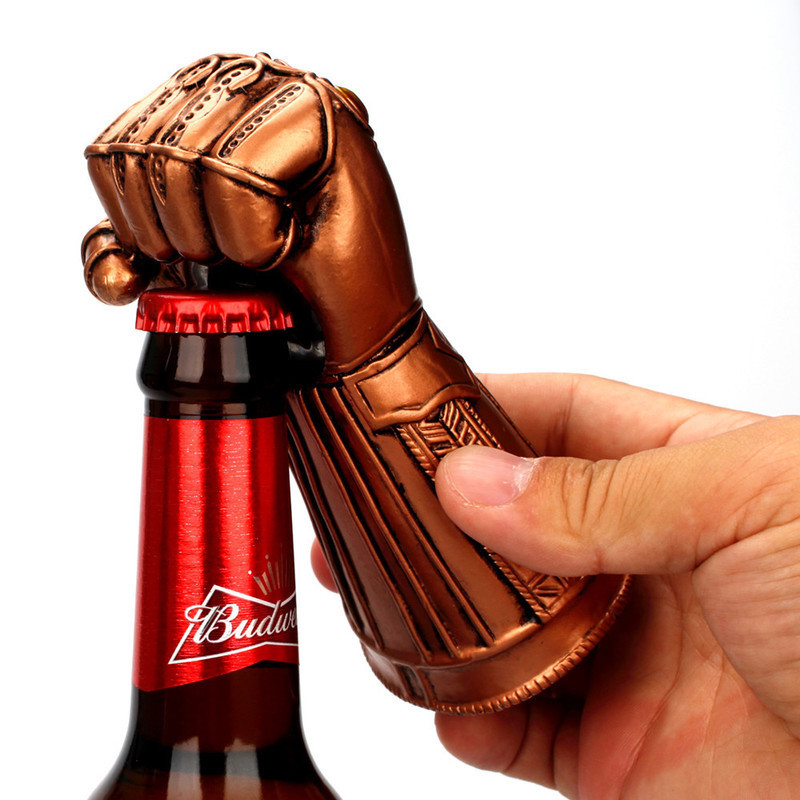Bronze Beer Bottle Opener Creative Multipurpose Infinity Thanos Gauntlet Glove Fashionable Useful Soda Glass Cap Remover Tool