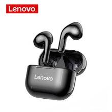 Lenovo LP40 kablosuz TWS yarı in kulak kulaklık BT 5.0 kulaklık spor kulaklık Hands Free Stereo ses kulaklıklar iOS Android