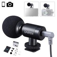 SAIREN-Mini micrófono de grabación Super cardioide TRS TTRS, para Gopro 8 7 6 Sony A6400 SLR, cámara, teléfono inteligente, vídeo, Vlog