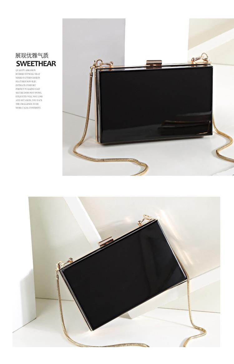Wholesale Trendy women clear acrylic evening clutch bag