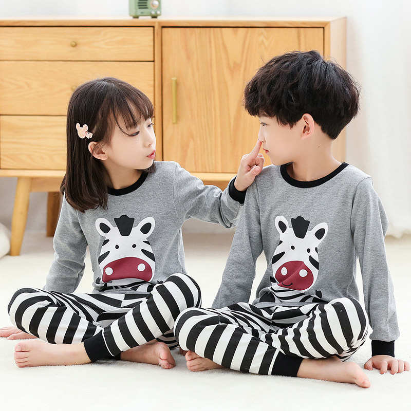 Autumn Winter Kids Pajamas Sets Baby Girl Clothes Boys Pyjamas Girls Pijamas Baby Sleepwear Children's Long Sleeve T-shirt+Pants