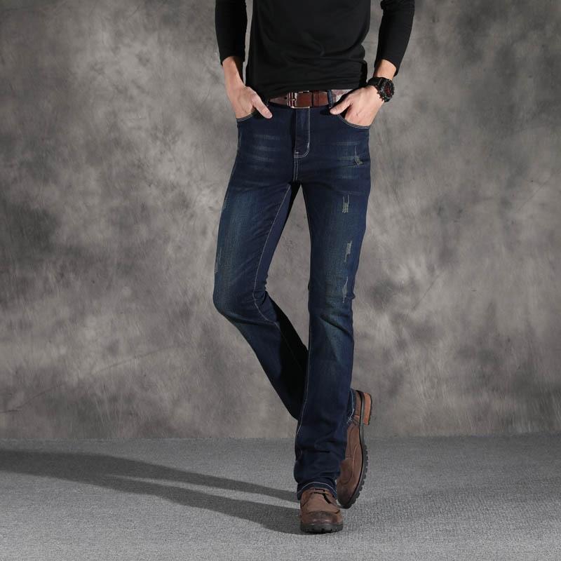 ICPANS  Classic Denim Flare Vintage Jeans Male Straight Pants Mens Flared Jeans Bootcut Boot Cut Jeans Men Leg Fit Black