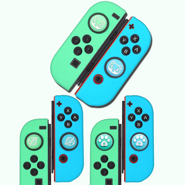 Thumb Stick Grip Cap Animal Crossing Joystick Cover Skin For Nintendo Switch NS Joy Con Nintend Joycon Controller Silicone Case