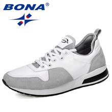 BONA 2019 New Designers Popular Men Shoes Adult Tennis Men Casual Shoes Breathable Footwear Nan Shoes Mens Chunky Sneakers Comfy