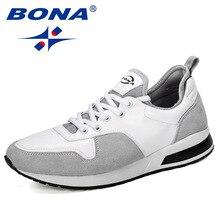 Bona 2019 novos designers populares sapatos masculinos tênis adulto sapatos casuais respirável sapatos nan dos homens grossos tênis confortável