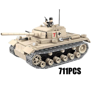 World war germany Panzerkampfwagen III moc batisbricks building block ww2 army forces figures model bricks toys for boys gifts