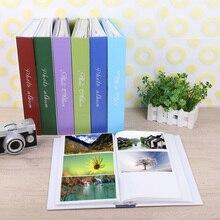 300 枚インターリーフタイプ家族写真アルバム画像スクラップブックメモリーブックウェディングスクラップブックベイビーフメモリ学友のためのフォトアルバム