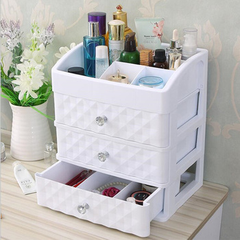 Plastic Cosmetic Drawer Container Makeup Organizer Box For Storage Make Up Jewelry Nail Holder Home Desktop Sundry Storage case plastic triple layer organizer container desktop diverse plastic drawer cosmetics makeup makeup storage box container