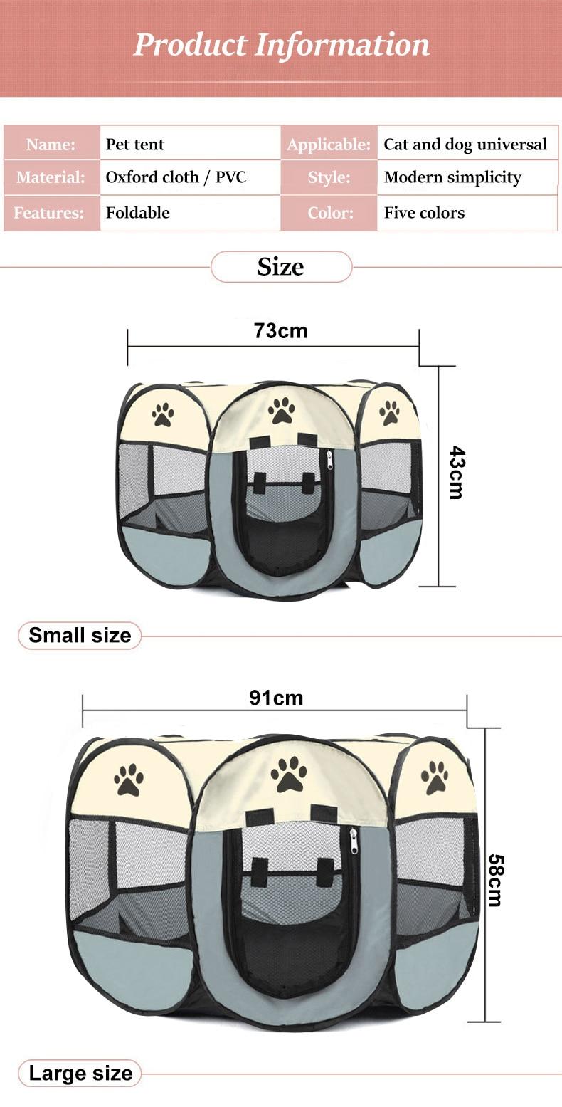 1Pc High Quality Portable Folding Pet Tent