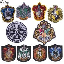 Pulaqi Badge Patches Embroidery Fabric Stickers Sew Iron On Clothing Stripes Clothes For Jeans Military Patch H