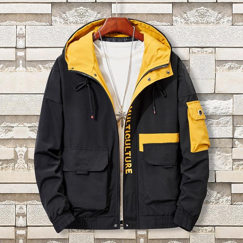 Plus Size 5XL, 6XL, 7XL, 8XL Jacket Men Fashion Hooded Bomber Jacket Men's Spring And Autumn Jacket Casual Windbreaker Coat