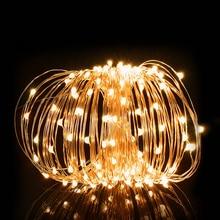 Гирлянда 2 м, 5 м, 10 м, светодиодный светильник из медной проволоки для шкафа, сказочный светодиодный светильник для праздника, рождественского декора, домашнего стола, свадебного торжества, светильник s