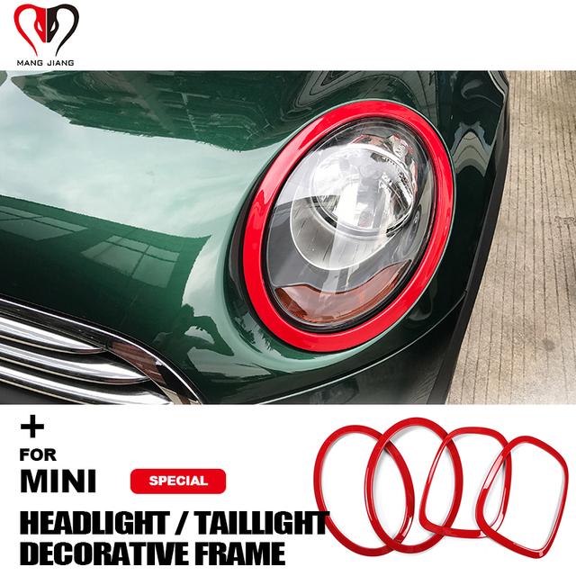 Taillight Trim Sticker For Mini Cooper F55 F56 Rear Tail Lights Head Lamps Rims Protective Covers Decoration Car Accessories