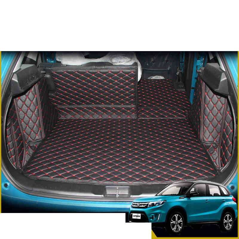Lsrtw2017 Leather Car Trunk Mat Cargo Liner For Suzuki Vitara 2015 2016 2017 2018 2019 5d Rug Carpet Interior Accessories