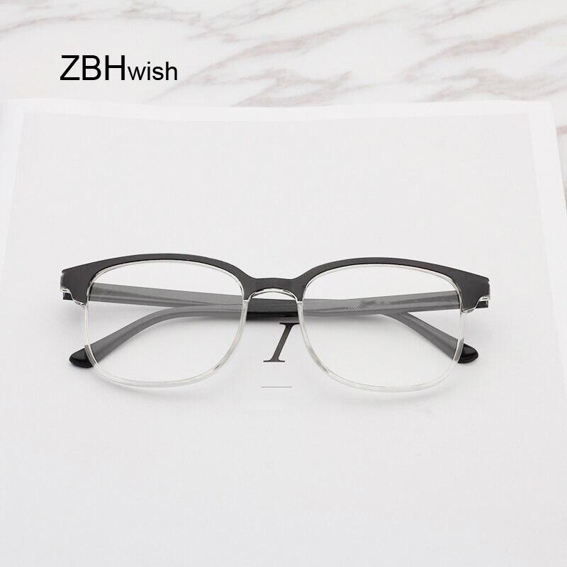 Gafas graduadas de lectura negras para hombres y mujeres, gafas ultraligeras para presbicia hipermetropía Simple a la moda para lector 1,5 2,5