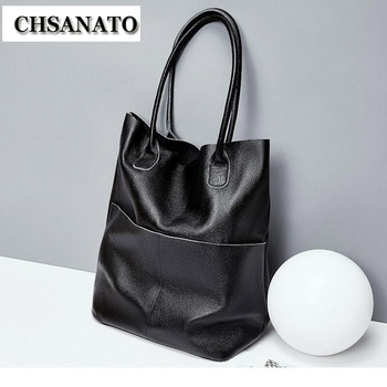 CHSANATO Women Shoulder Crossbody Bag Female New Brand casual Big Totes High Quality Cow Leather Ladies Hobo Messenger Bag Sac