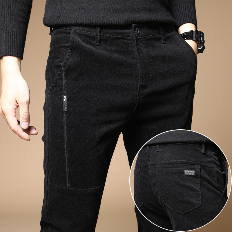 Men's Casual Pants 2019 Autumn And Winter New Corduroy Casual Straight Trousers Youth Personality Fashion Trend Men's Clothing