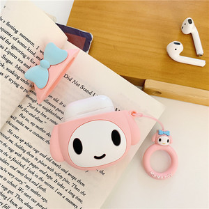 Image 3 - Bluetooth אוזניות מקרה עבור Airpods 2 אביזרי מגן כיסוי עם טבעת רצועת מקרה עבור airpods חמוד סיליקון מלודי עיצוב