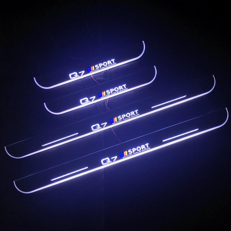 For Audi A3 A4 B6 B7 B8 B9 A5 A6 C7 C8 A7 Q3 Q5 Q7 TT Dynamic Led Door Sill Scuff Plate Threshold Pedal Door Lights Car Sticker