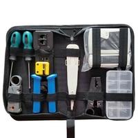 RJ45 네트워크 테스터 도구 키트 LAN 케이블 와이어 커터 크림 퍼 압착 펜치 유지 보수 도구 세트 가방