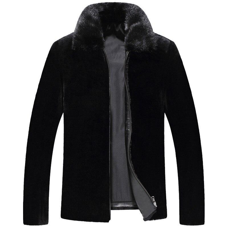2020 Winter Jacket Men Real Pure Natural Fur Coat Natural Sheepskin Fur Coat Mens Real Sheep Shearing Fur Coats MY732