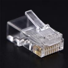 Штекерный адаптер rj45 cat5 cat5e cat6 прозрачный Модульный
