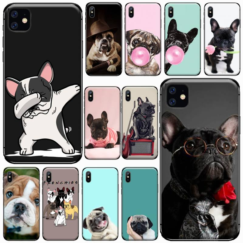 Cute French Bulldog Phone Case for iPhone 11 12 pro XS MAX 8 7 6 6S Plus X 5S SE 2020 XR|Phone Case & Covers| - AliExpress