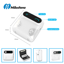 Bluetooth Wireless Small Thermal Printer Picture Mobile Photo Printer Mini Printer Portable Photo Printer for Android iOS USB