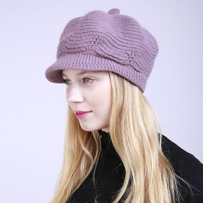 MYALICE Women Winter Keep warm Peaked cap Plus Velvet Windproof ear cap Fashion Personality Outdoor travel Wholesale
