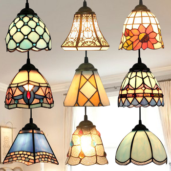 stained glass pendant light hanging lamp accent novelty lamp light fixture unique new year X'mas gift