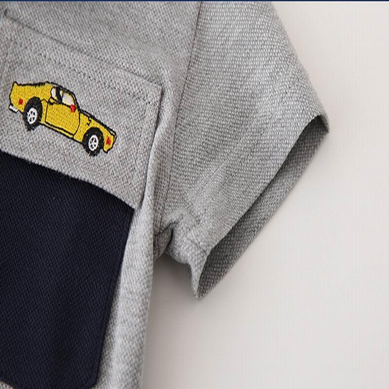 infantil, camiseta de manga curta de verão