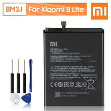 Bateria recarregável genuína 3350mah do telefone da substituição original bm3j de xiao mi para xiaomi 8 lite mi8 lite