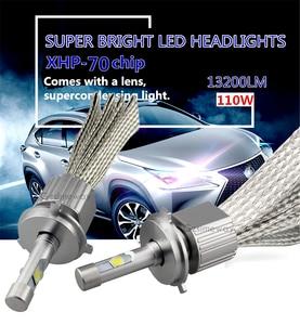 Image 2 - 2PCS Car LED Headlight H11 Kit H4 H7 H8 H9 H16 9005 HB4 HIR2 xhp70 6000K 110W 13200LM 9004/7 H13  D2H D2S Auto Styling Fog Lamps