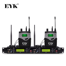 EM-6002 Wireless In Ear Monitor System Professional Stage Performance Ear Monitoring Systems with Two Bodypack Transmitter