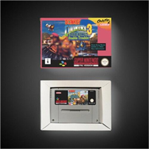 동키 국가 콩 3 딕시 콩의 더블 문제!  RPG 게임 카드 배터리 저장 EUR 버전 소매 상자