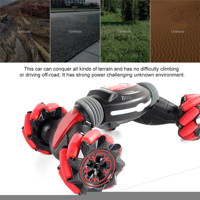 LBLA Gesture Induction Remote Control Stunt RC Car 4wd Twisting Off-Road Vehicle Light Music Drift Dancing Driving Toy for Kids 4