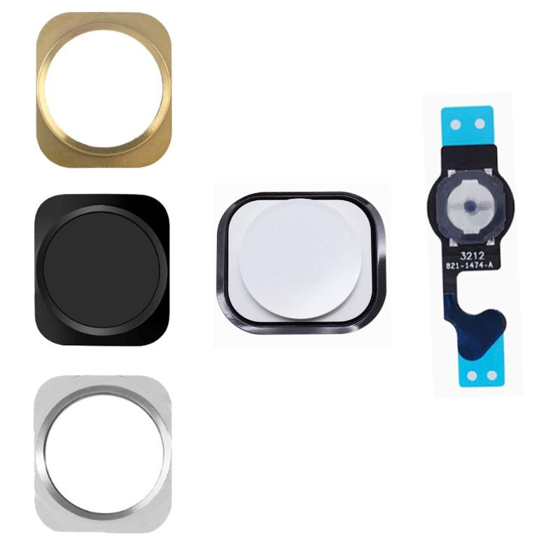 4pcs/lot For IPhone 5 5G 5C Home Button Flex Home Button Menu With Flex Cable Key Cap Black & White