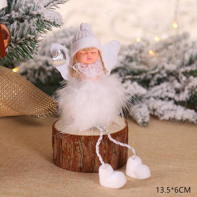 New Year 2020 Cute Santa Claus/Snowman/Angel Christmas Dolls Noel Christmas Tree Decoration for Home Xmas Navidad 2019 Kids Gift 175
