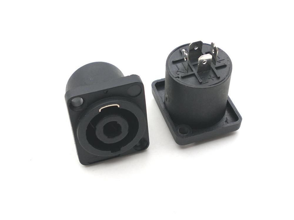 4 шт. спикер 4-контактный разъем совместимый аудио кабель панель гнездо