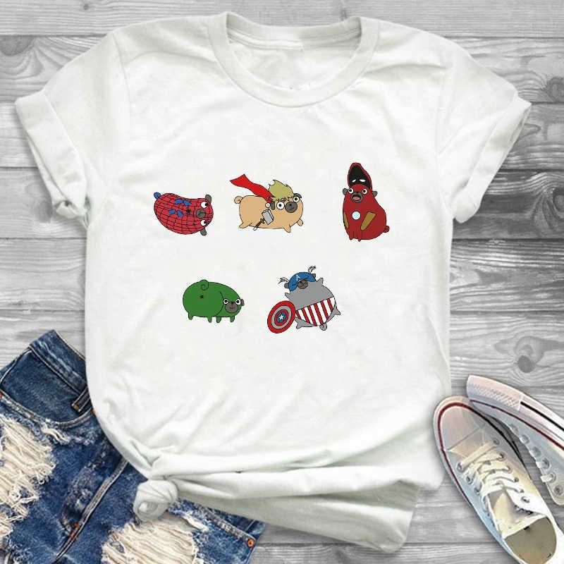 T-Shirt T-Shirt T-shirts T-shirts mode femmes vague peinture chien mignon esthétique vêtements dessin animé femmes femme graphique T-Shirt
