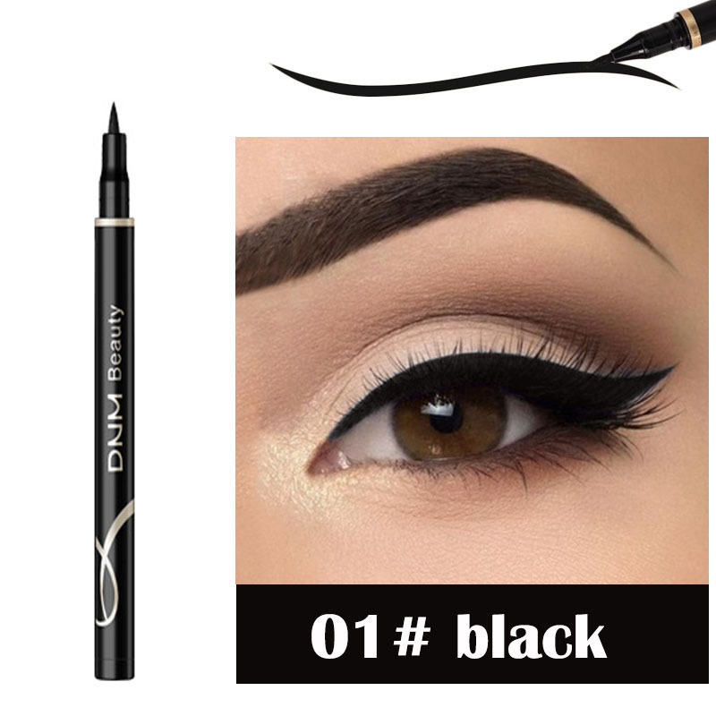 DNM 1pcs Neon Colorful Liquid Eyeliner Waterproof Matte Smooth Eyeliner Pen Blue Black Brown Eyeliner Cat Eye Makeup Tools TSLM2 1