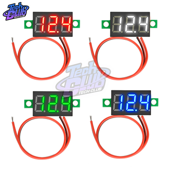 DC mini 0.36  Digital LED Display 0-30 V Voltmeter 3 Wires Voltage Meter Red/Green/Blue/yellow for car battery test image